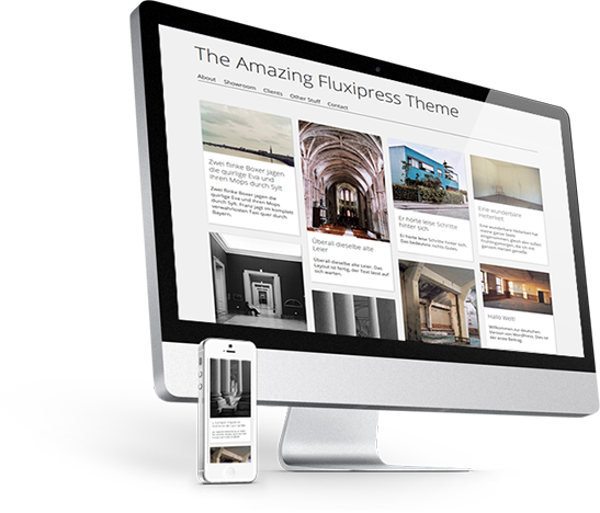 The Fluxipress Wordpress Theme works on many devices.